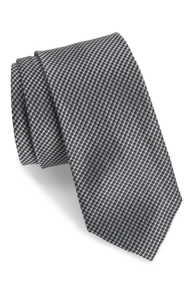 1901 Jennie Solid Silk Tie, Main, color, BLACK