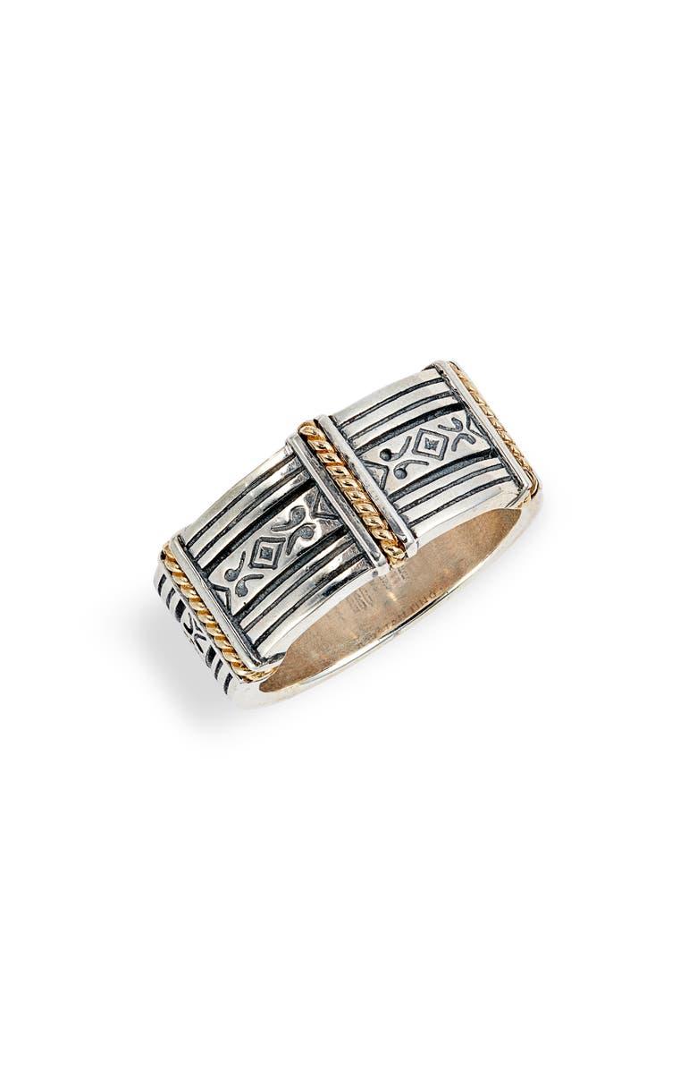 KONSTANTINO Perseus Band Ring, Main, color, SILVER/ GOLD