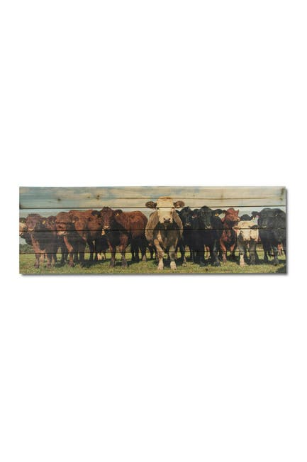"Image of Gallery 57 Cow Herd Wooden Wall Art - 36"" x 12"""