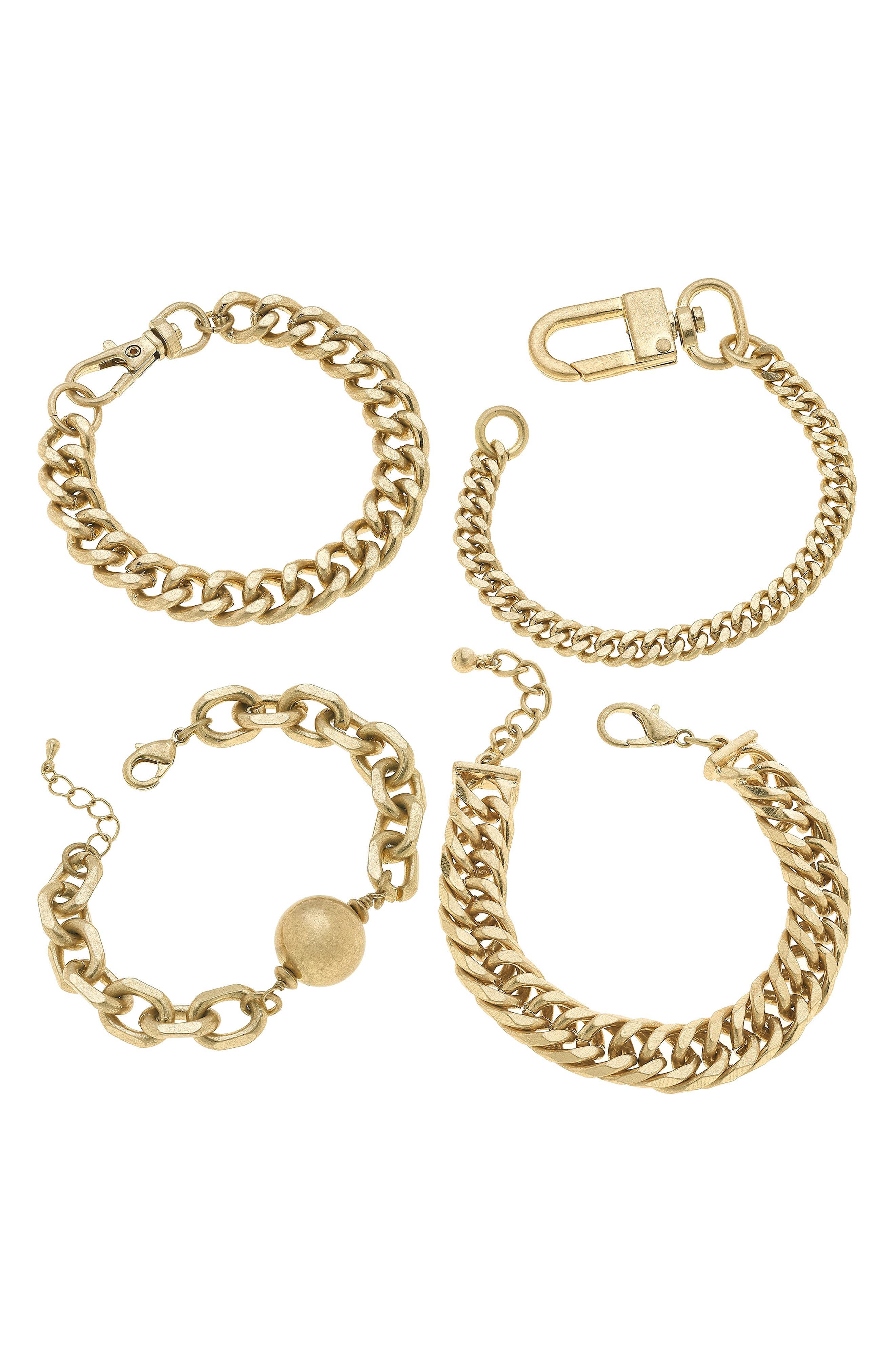 Set Of Four Stacking Bracelets