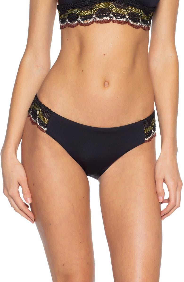 BECCA East Wind Bikini Bottoms, Main, color, BLACK