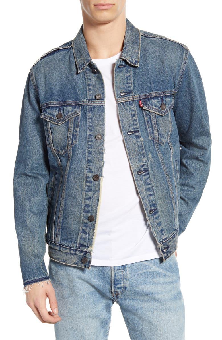 LEVI'S<SUP>®</SUP> Denim Trucker Jacket, Main, color, SAVAGE - DX