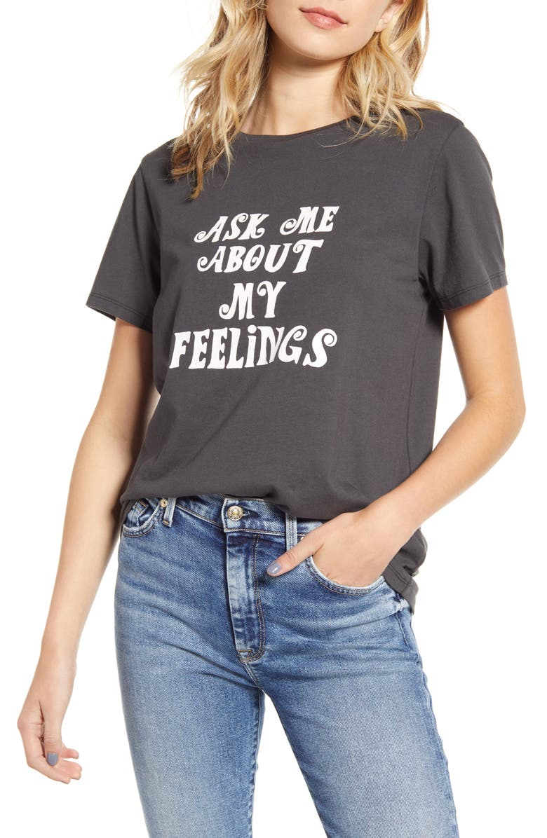 BAN.DO Ask Me About My Feelings Tee, Main, color, 001