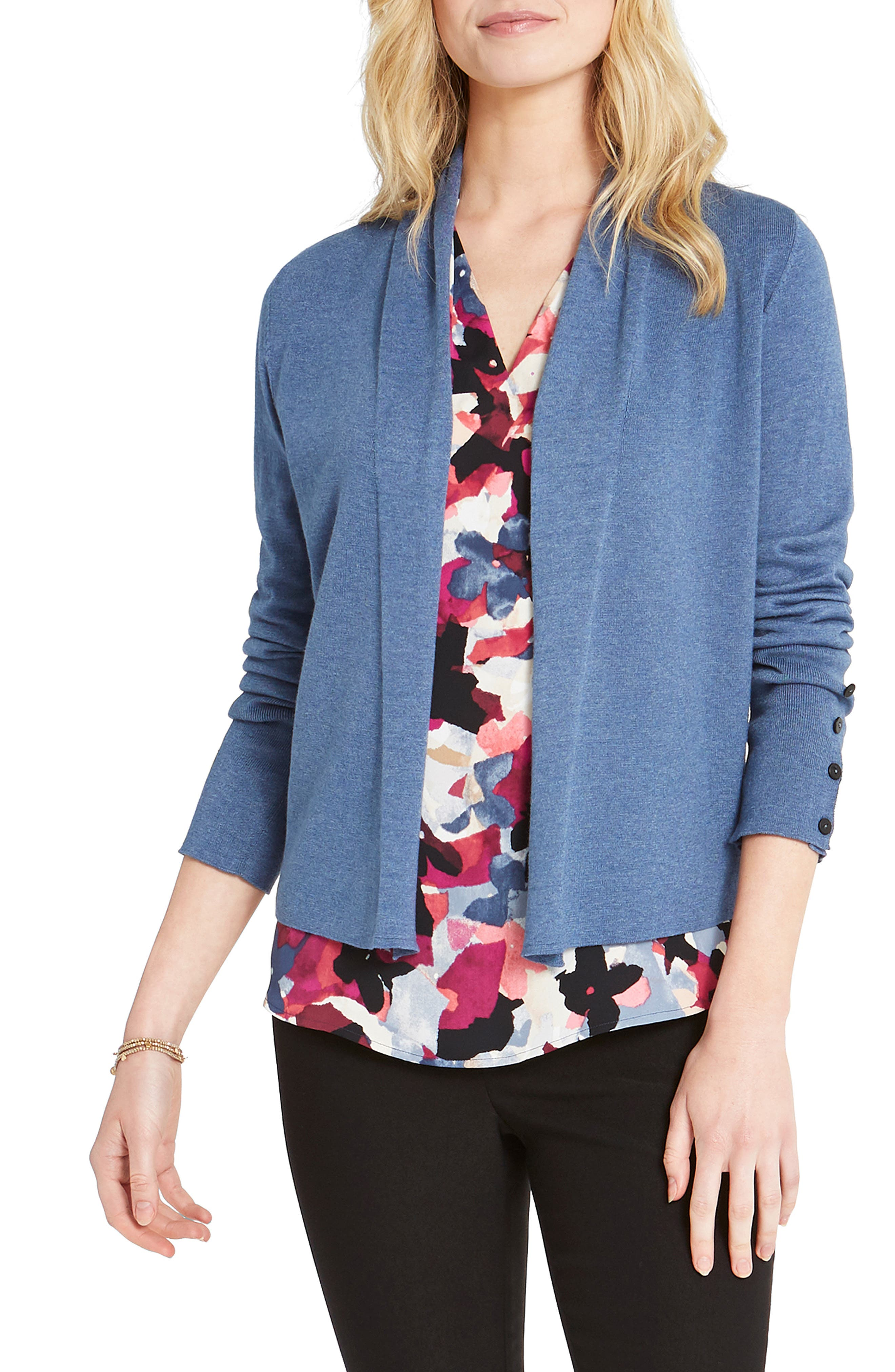 This trusty button-cuff cardi is smart and versatile, taking you from the office to book club with the ladies. Style Name: Nic+Zoe Book Club Open Cardigan (Regular & Petite). Style Number: 6051401. Available in stores.