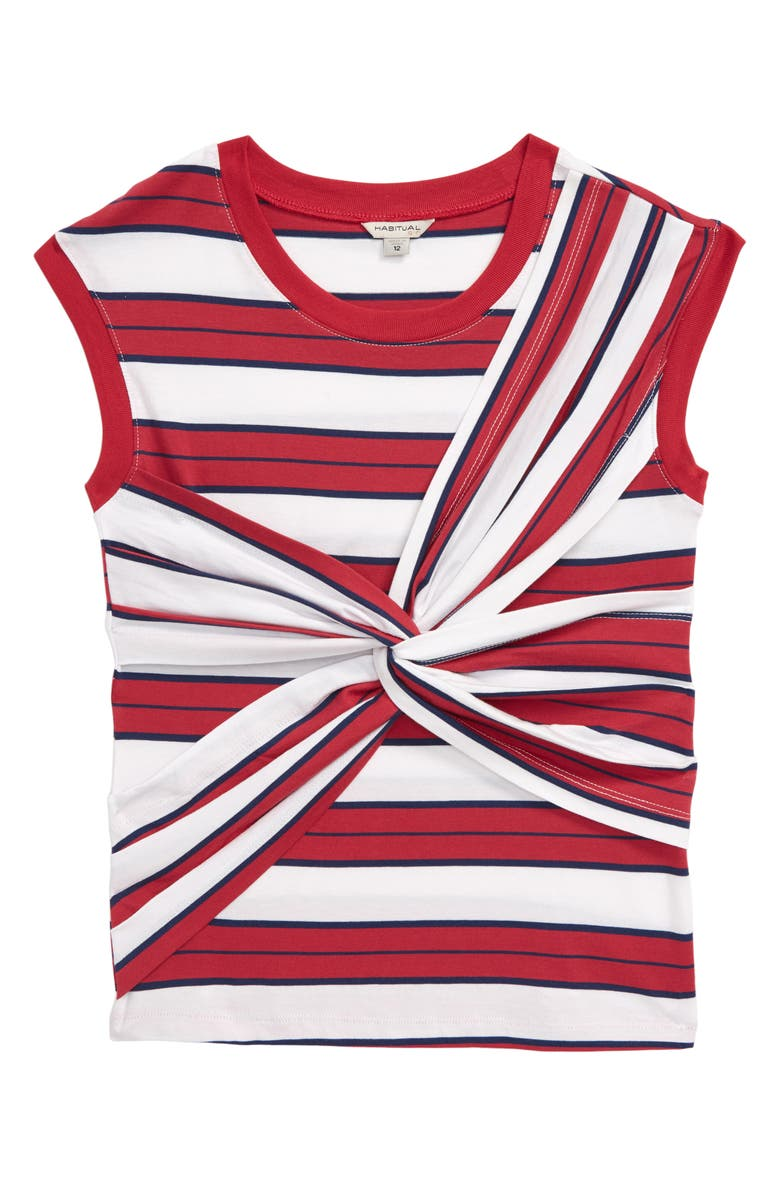 HABITUAL Front Twist Top, Main, color, RED