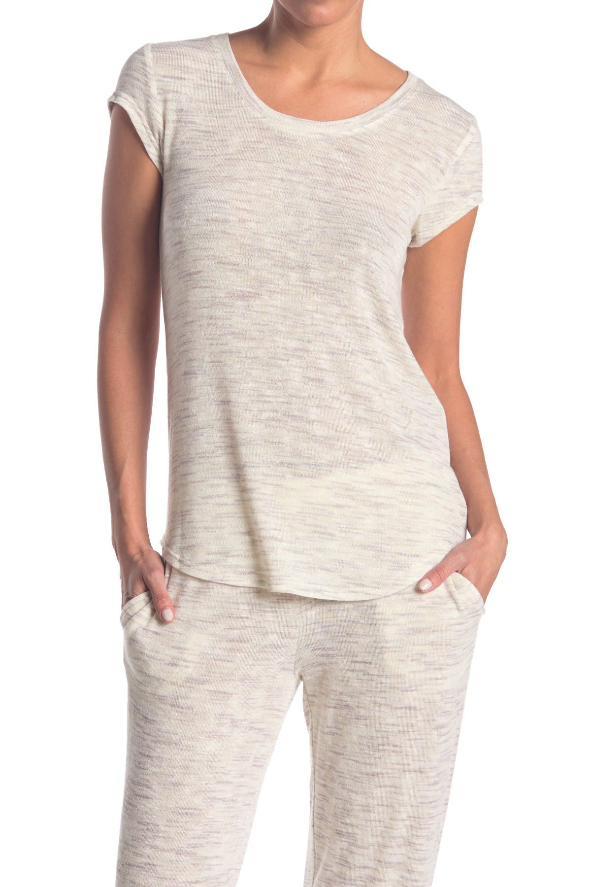 Image of HUE Space Dye Print Scoop Neck Pajama T-Shirt