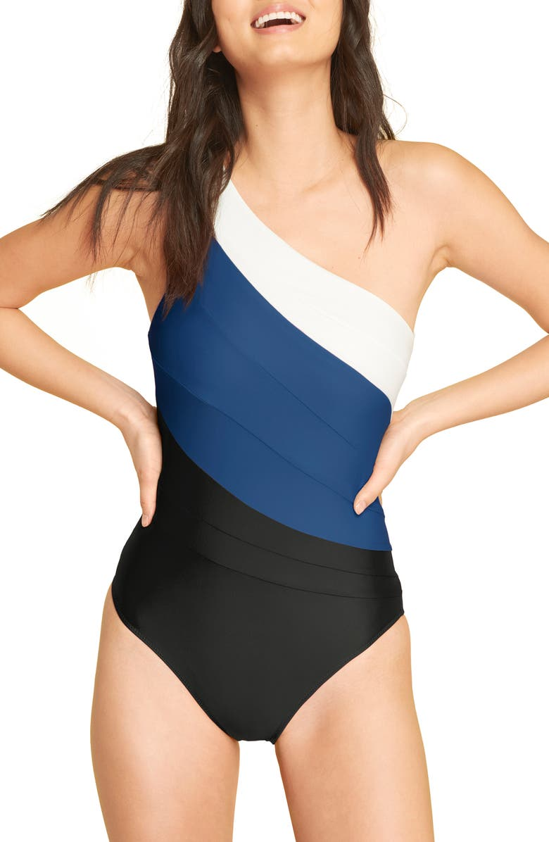 SUMMERSALT The Sidestroke One-Piece Swimsuit, Main, color, 400