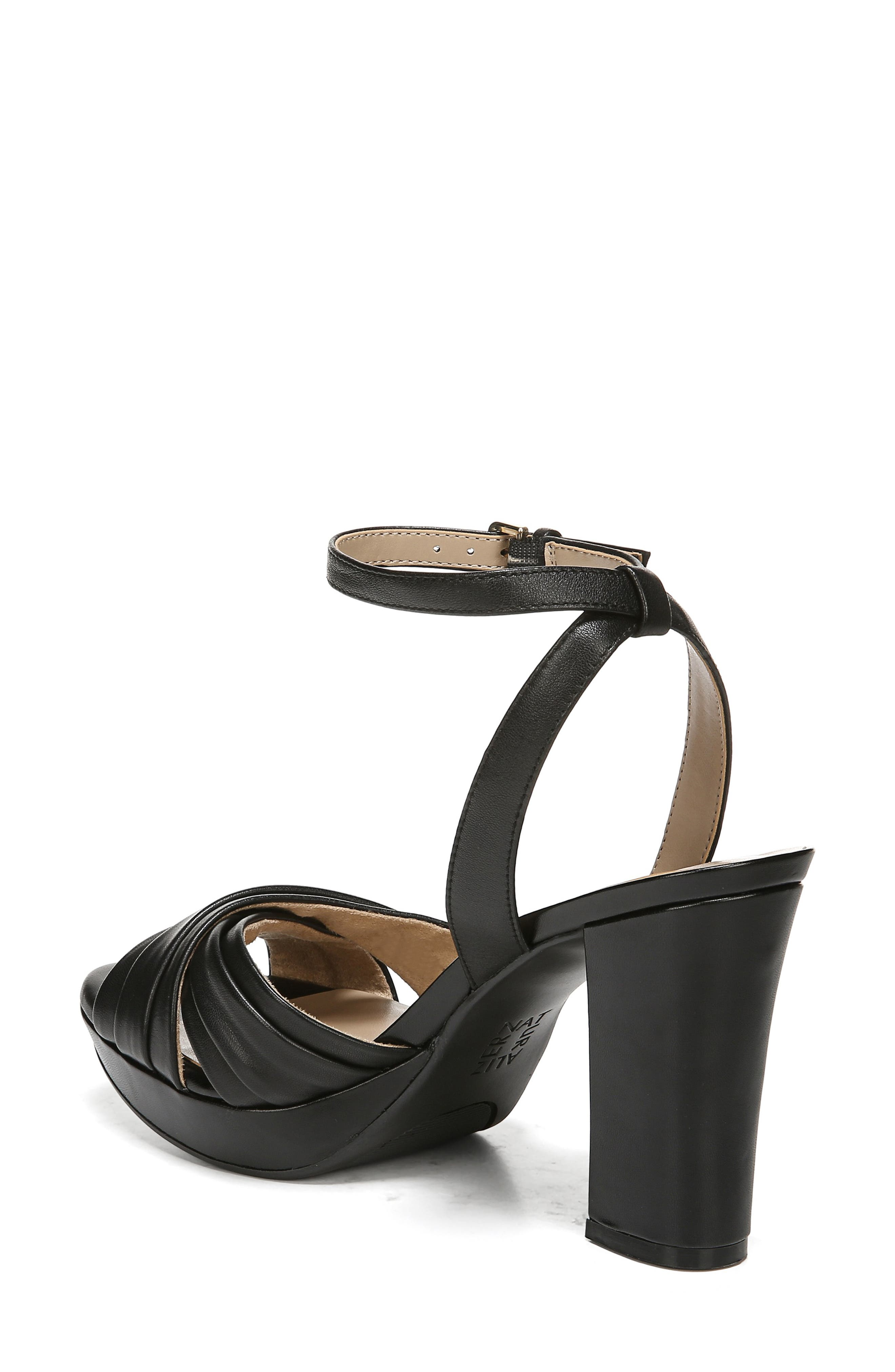 ,                             Avril Ankle Strap Sandal,                             Alternate thumbnail 2, color,                             BLACK LEATHER