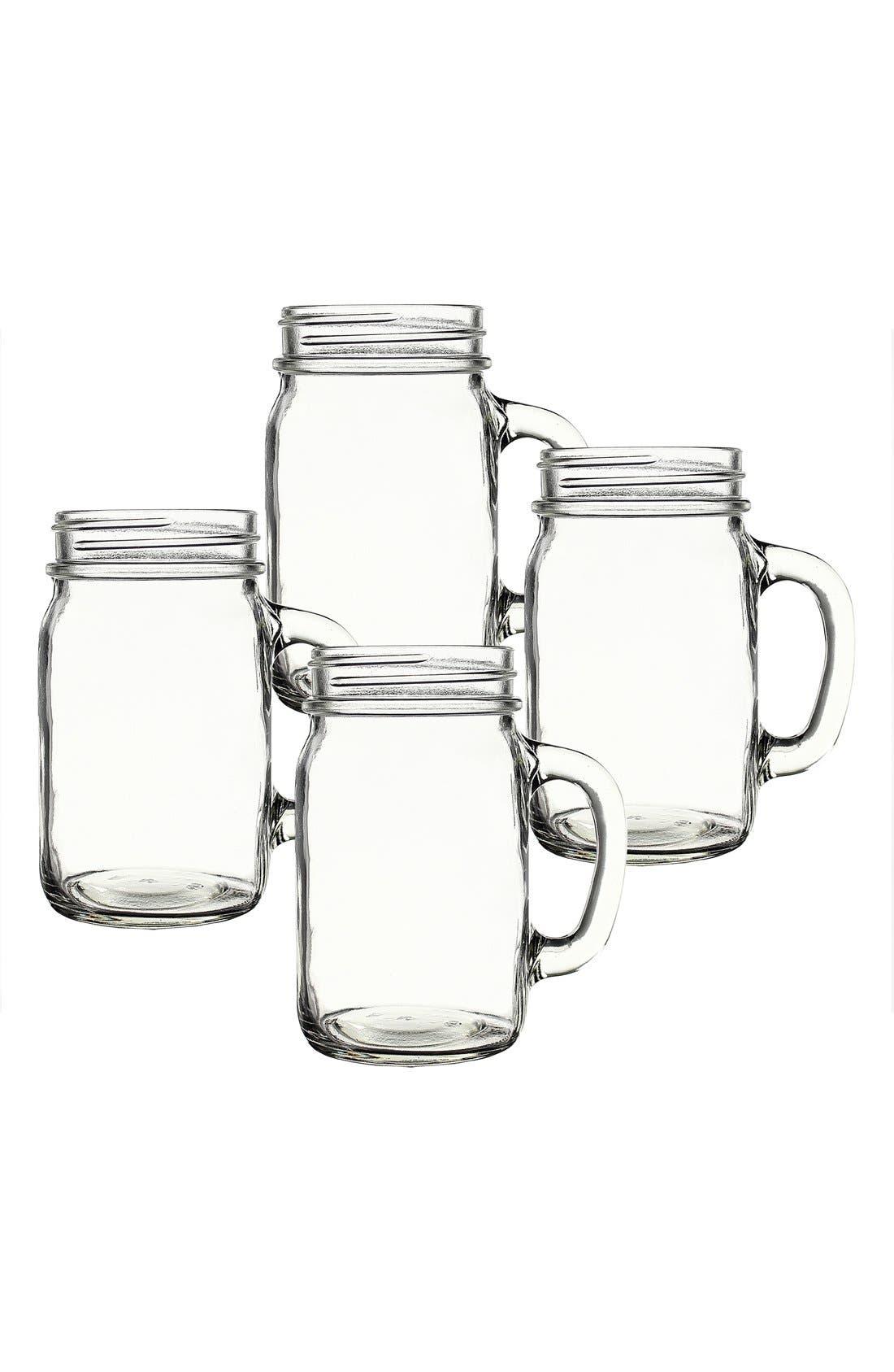 ,                             Monogram Glass Drinking Jars,                             Alternate thumbnail 6, color,                             000