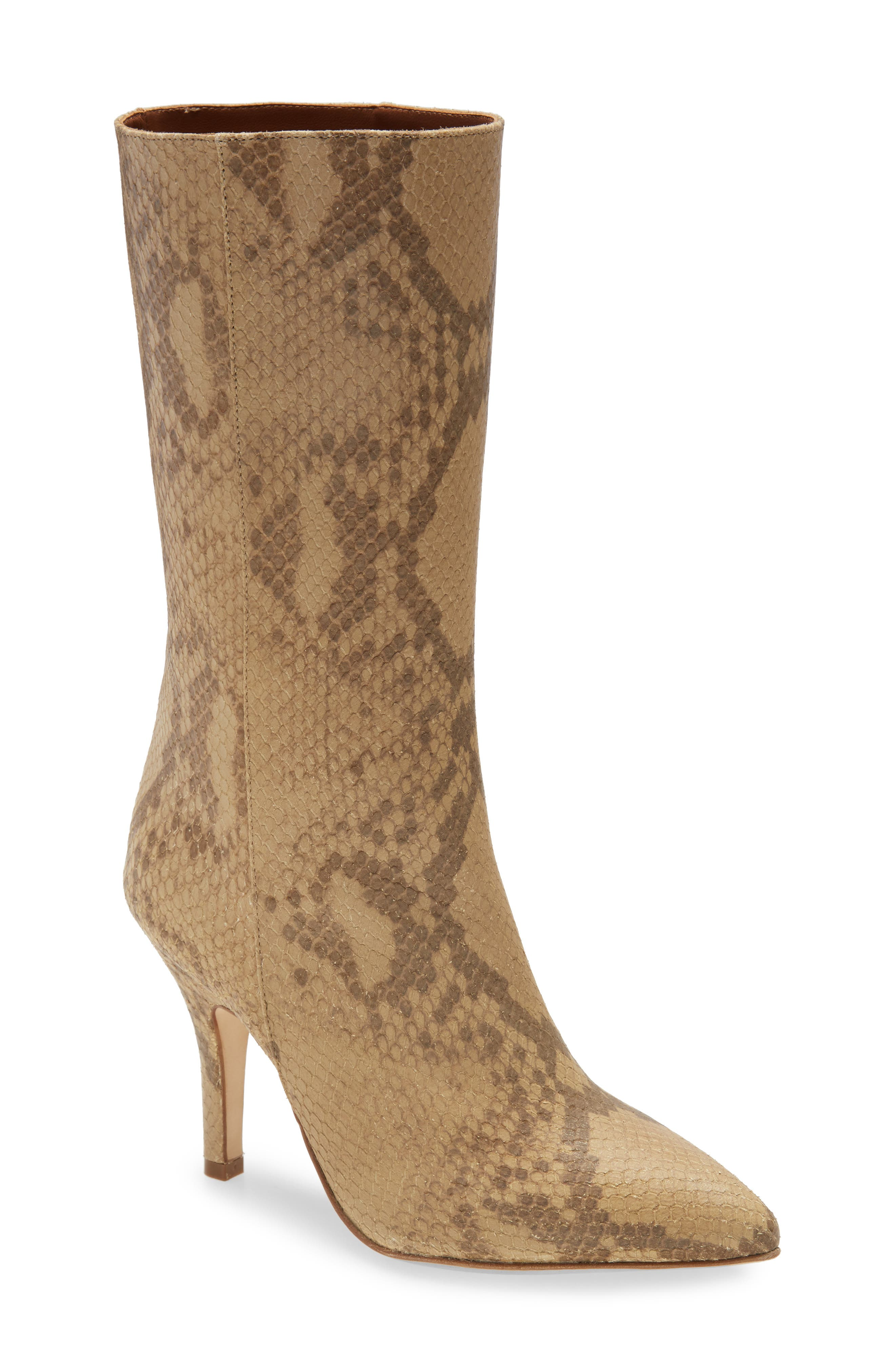 Image of PARIS TEXAS Python Embossed Boot