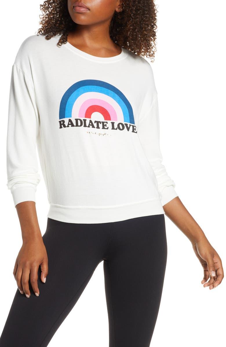 SPIRITUAL GANGSTER Radiate Savanna Sweatshirt, Main, color, STONE
