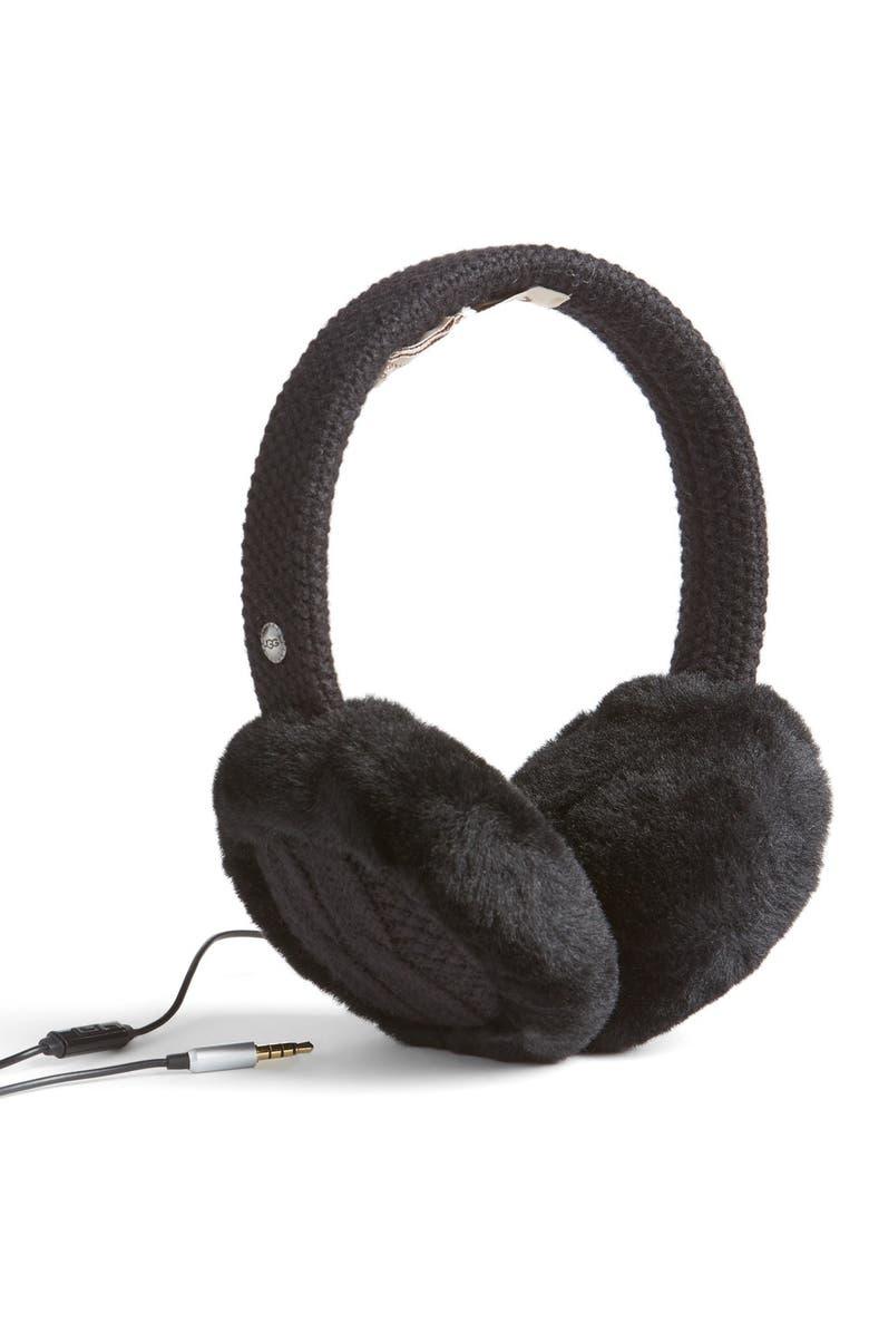 UGG<SUP>®</SUP> Genuine Shearling Headphone Earmuffs, Main, color, 003