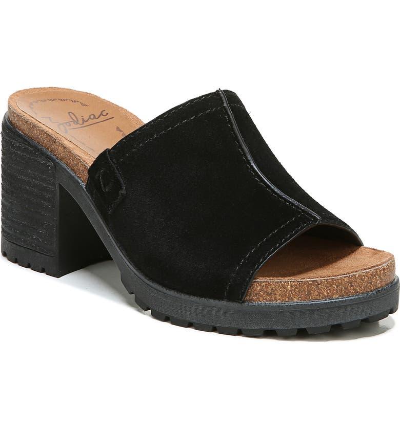 ZODIAC Lissa Slide Sandal, Main, color, BLACK SUEDE
