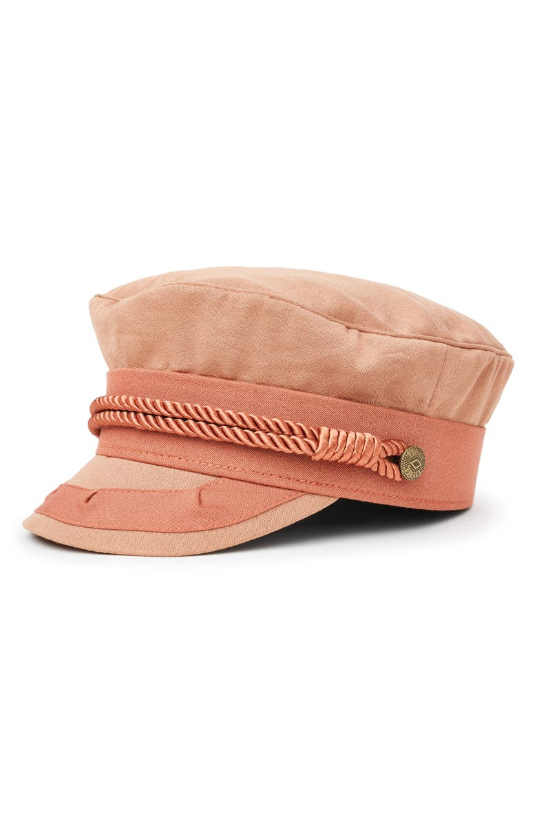 BRIXTON Albany Fiddler Cap, Main, color, ROSE GOLD