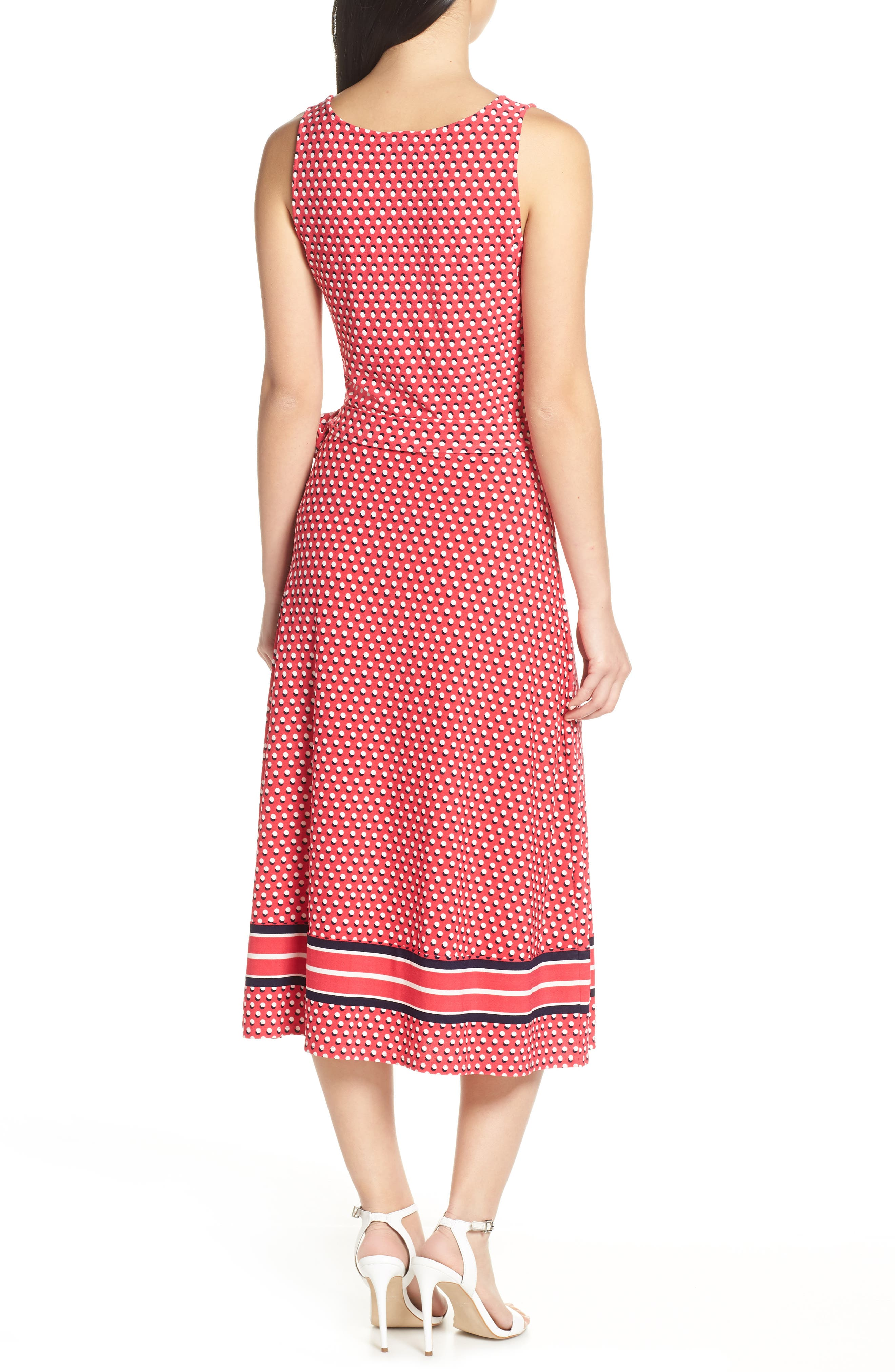 ,                             Justine Border Print Wrap Dress,                             Alternate thumbnail 2, color,                             641