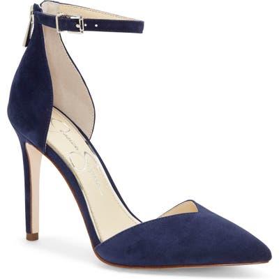 Jessica Simpson Paisleah Ankle Strap Pump- Blue