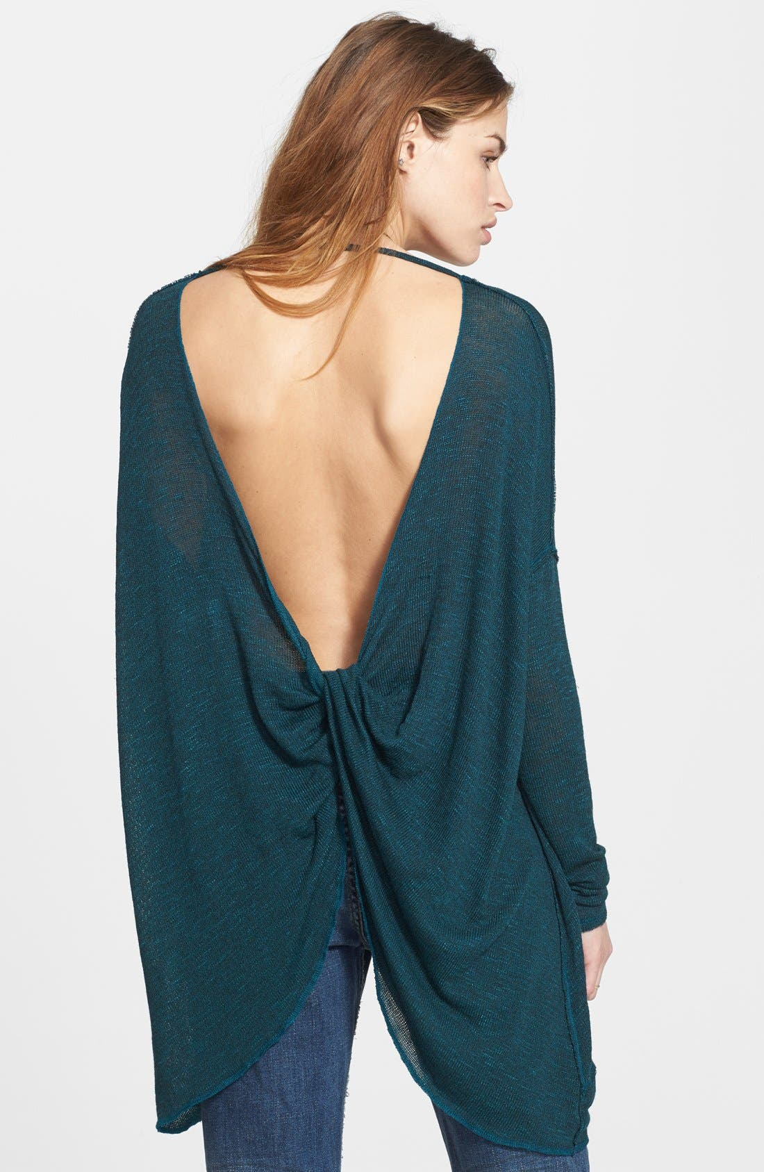 ,                             'Shadow' Oversize Hacci Open Back Top,                             Alternate thumbnail 18, color,                             445