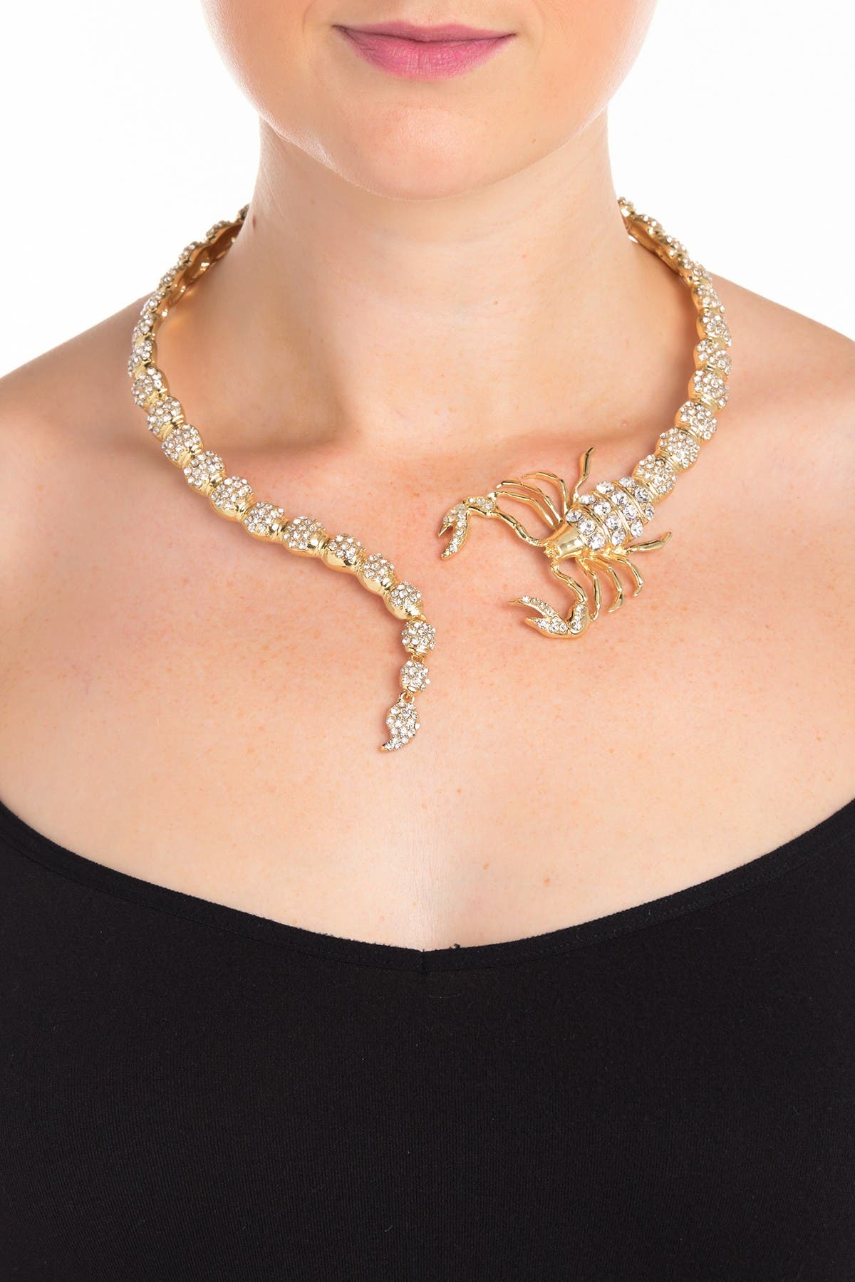 Eye Candy Los Angeles Crystal Embellished Scorpion Collar Necklace at Nordstrom Rack