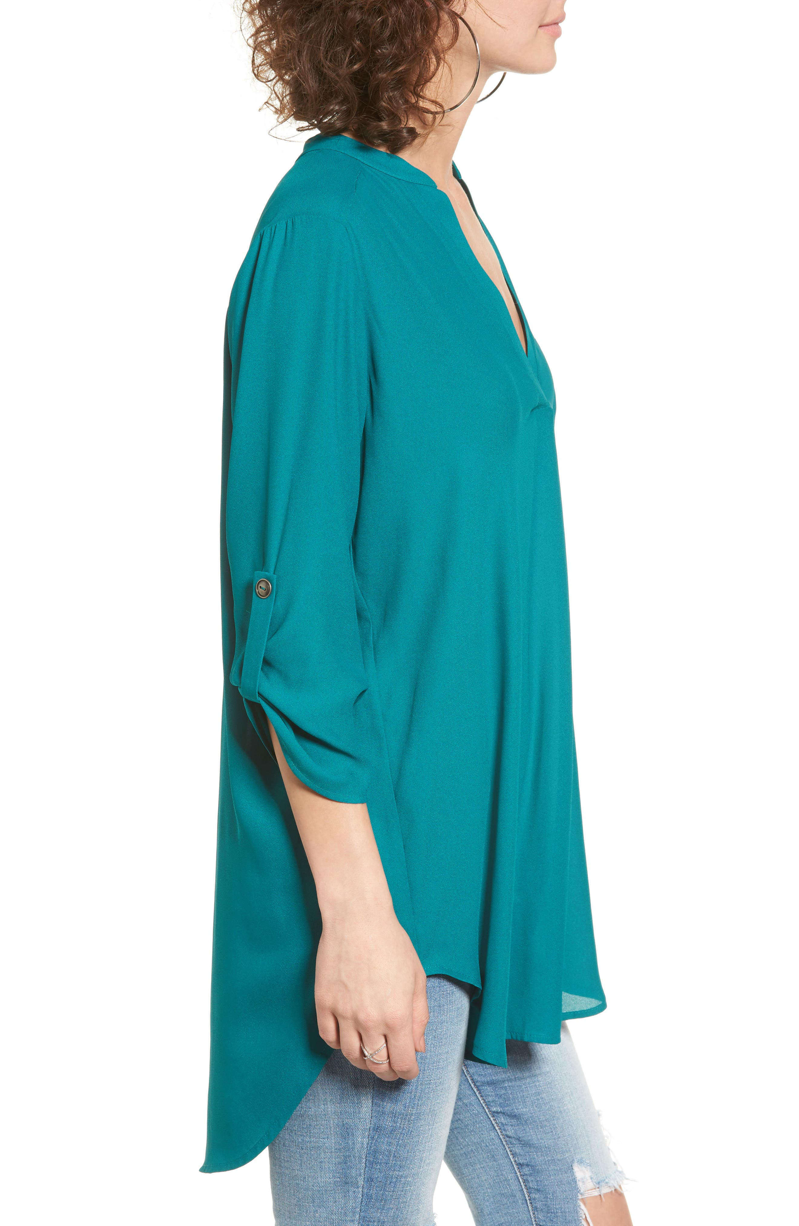 ,                             Perfect Roll Tab Sleeve Tunic,                             Alternate thumbnail 251, color,                             357