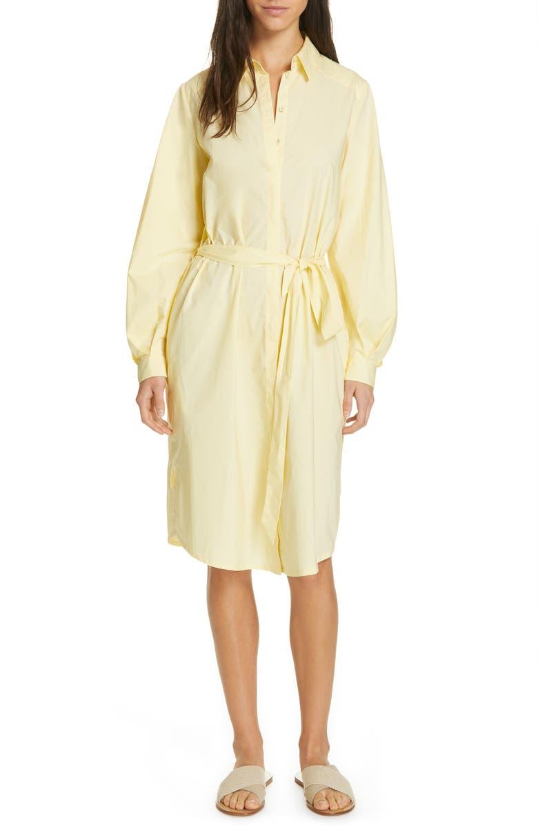 RODEBJER Agata Cotton Shirtdress, Main, color, LIGHT YELLOW