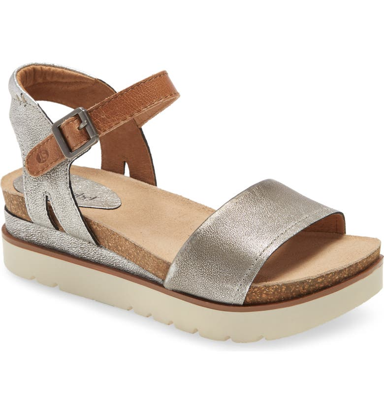 JOSEF SEIBEL Clea 01 Platform Sandal, Main, color, PLATIN LEATHER