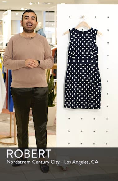 Spot Tweed Sheath Dress, sales video thumbnail