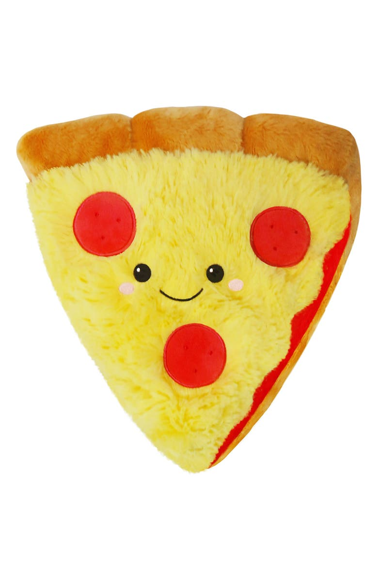 SQUISHABLE Pizza Slice Stuffed Toy, Main, color, MULTI