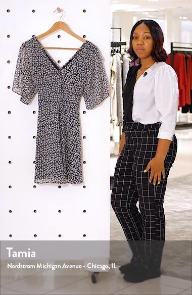 Ivey Floral Split Sleeve Minidress, sales video thumbnail
