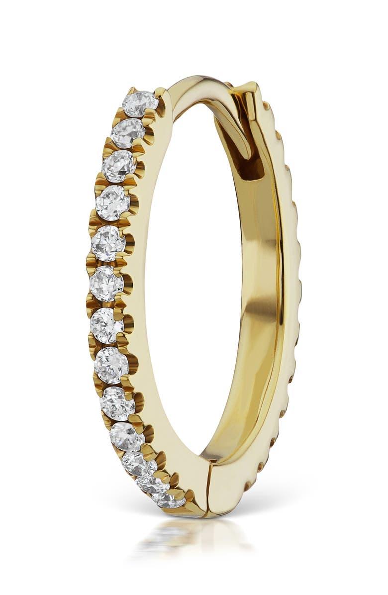 MARIA TASH 8mm Diamond Eternity Earring, Main, color, YELLOW GOLD/ DIAMOND