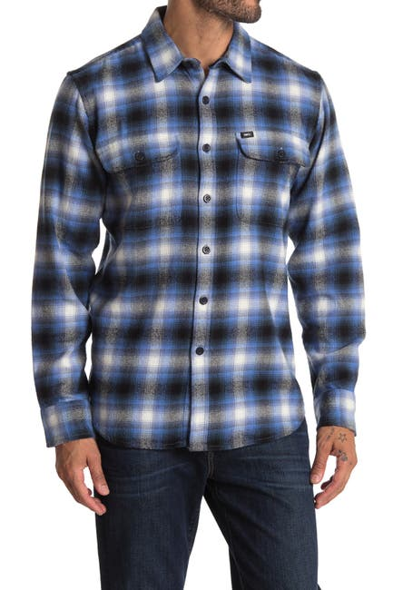 Image of Obey Storm Woven Long Sleeve Regular Fit Shirt