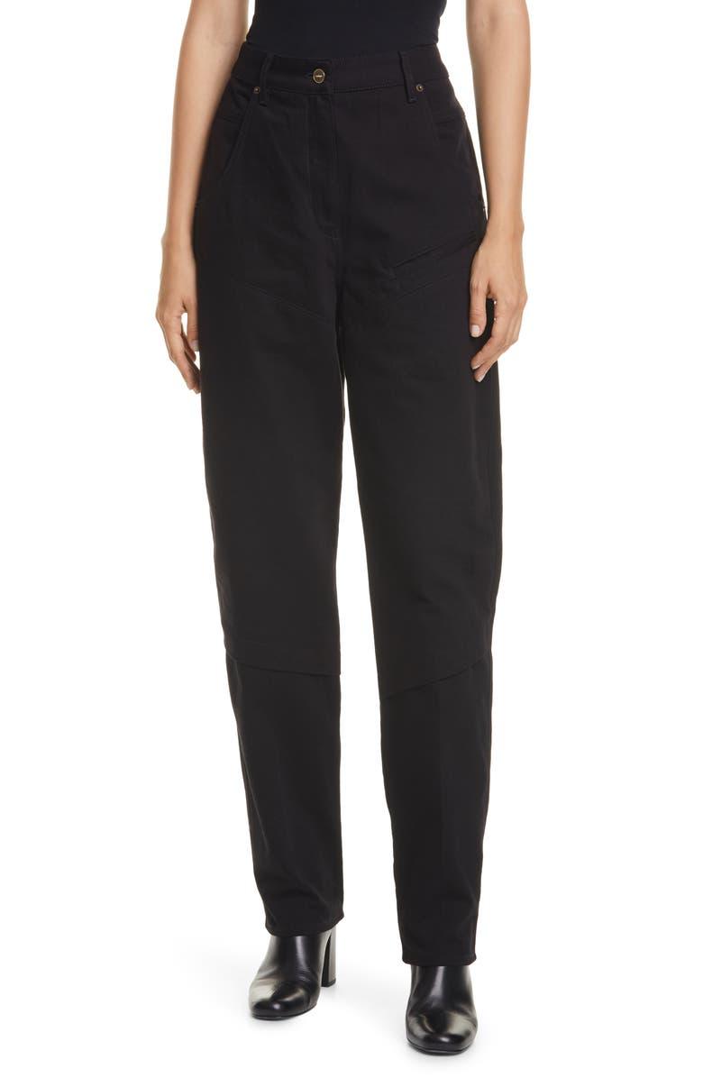 JACQUEMUS High Waist Jeans, Main, color, BLUE/ BLACK