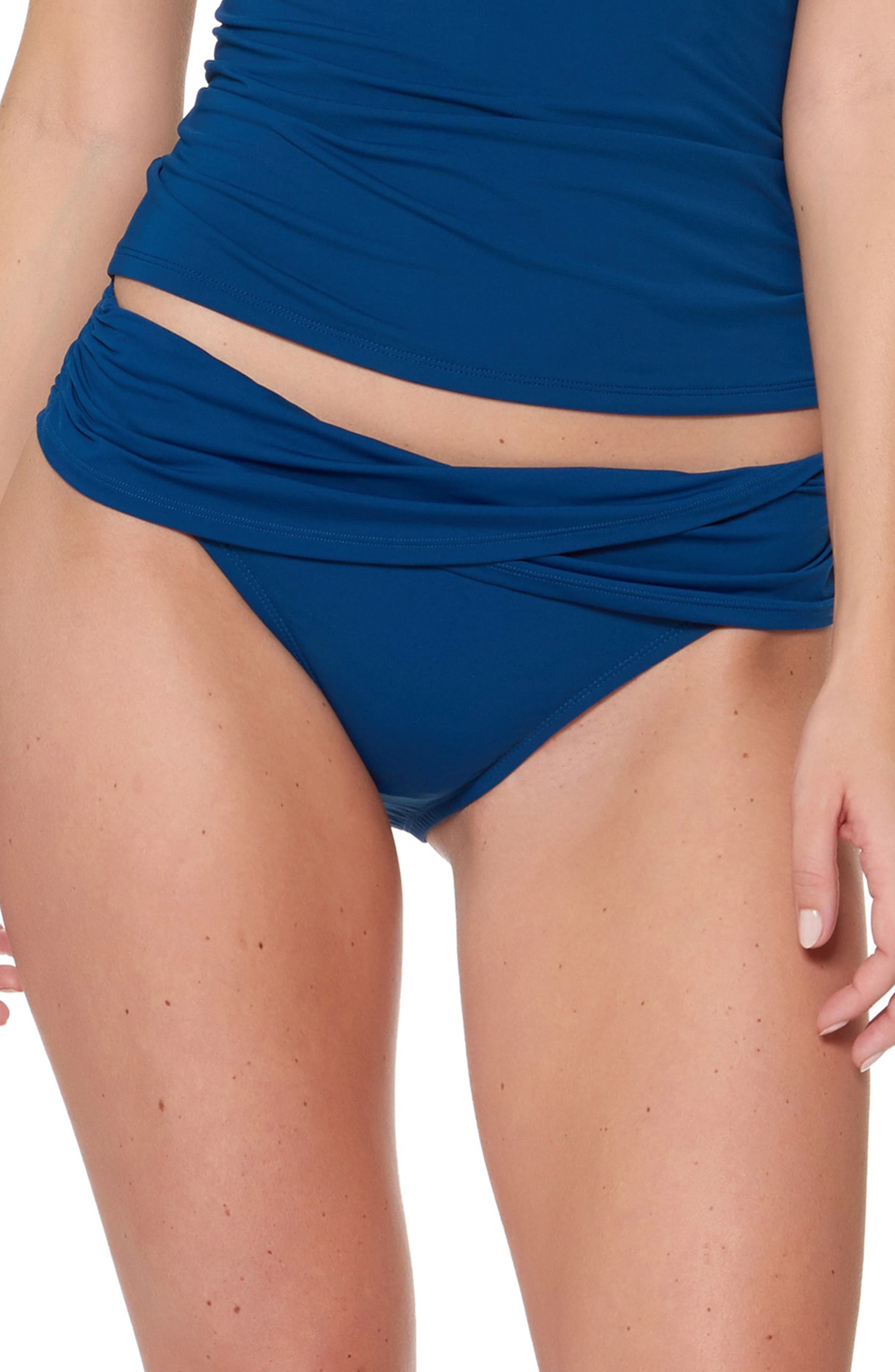 Bleu By Rod Beattie Sarong Hipster Bikini Bottoms, Blue