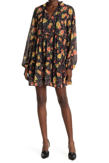 Image of Flying Tomato Printed Woven Mini Dress