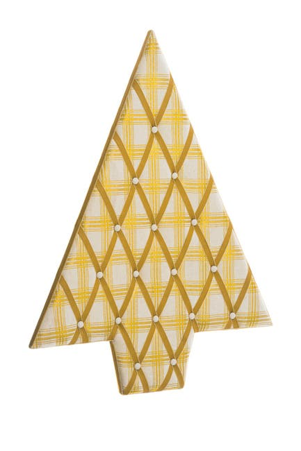 """Image of ALLSTATE 25"""" W x 32"""" L Plaid Tree-Shaped Wall Decor/Card Holder"""