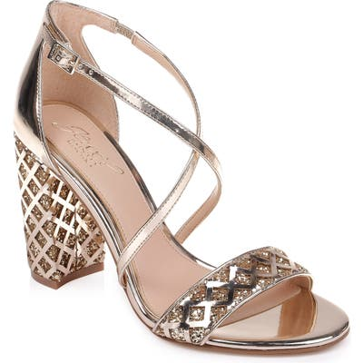 Jewel Badgley Mischka Kathy Sandal- Metallic