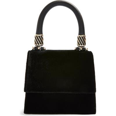 Topshop Mini Fancy Velvet Crossbody Bag - Black