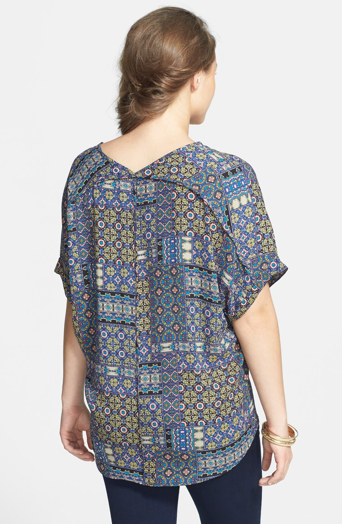 ,                             Lush Cuff Sleeve Woven Tee,                             Alternate thumbnail 73, color,                             403