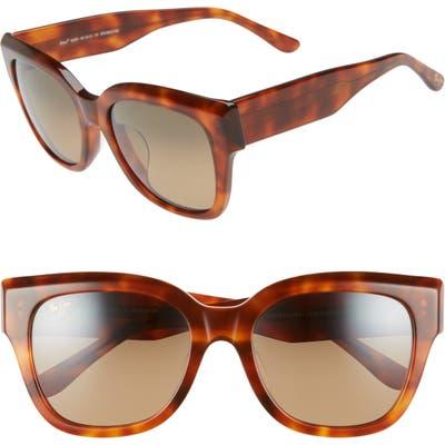 Maui Jim Siren Song 5m Polarizedplus2 Cat Eye Sunglasses - Koa Tortoise