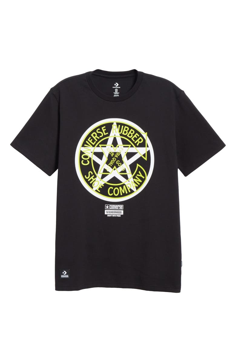 CONVERSE x NEIGHBORHOOD Graphic T-Shirt, Main, color, BLACK