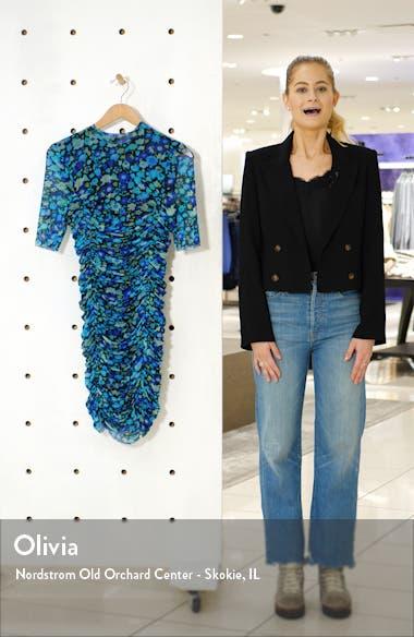 Floral Print Mesh Body-Con Dress, sales video thumbnail