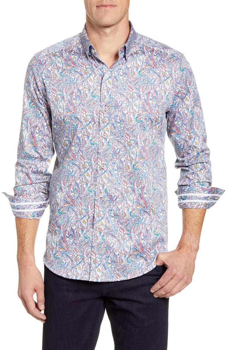 ROBERT GRAHAM Laramy Classic Fit Button-Up Sport Shirt, Main, color, MULTI