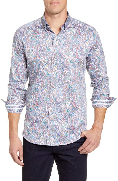 Robert Graham T-shirts LARAMY CLASSIC FIT BUTTON-UP SPORT SHIRT