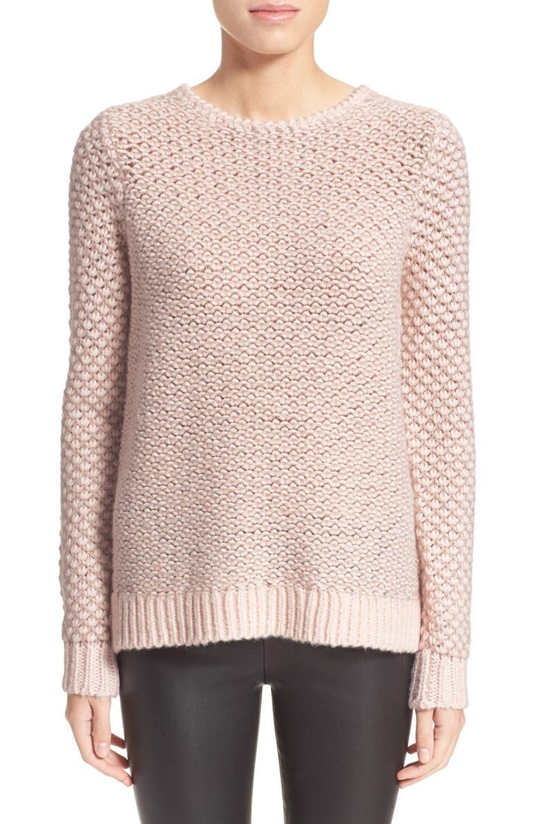 REBECCA TAYLOR Long Sleeve Metallic Pullover, Main, color, 699
