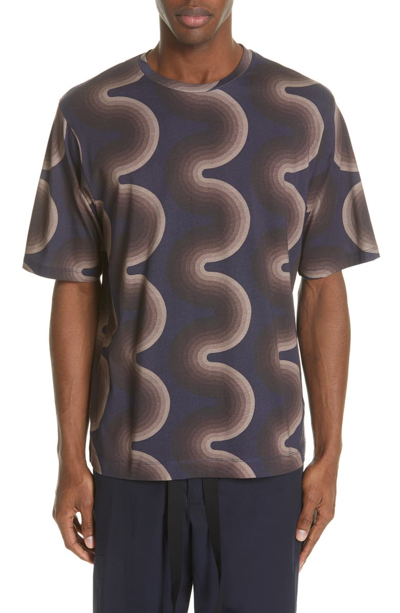 DRIES VAN NOTEN Honey Wave Print T-Shirt, Main, color, 200