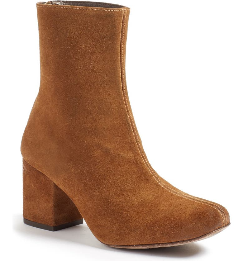 FREE PEOPLE Cecile Block Heel Bootie, Main, color, BROWN SUEDE