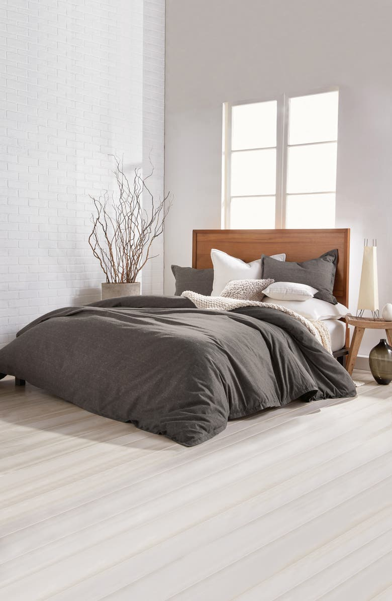 DKNY Pure Flannel Duvet Cover, Main, color, 020