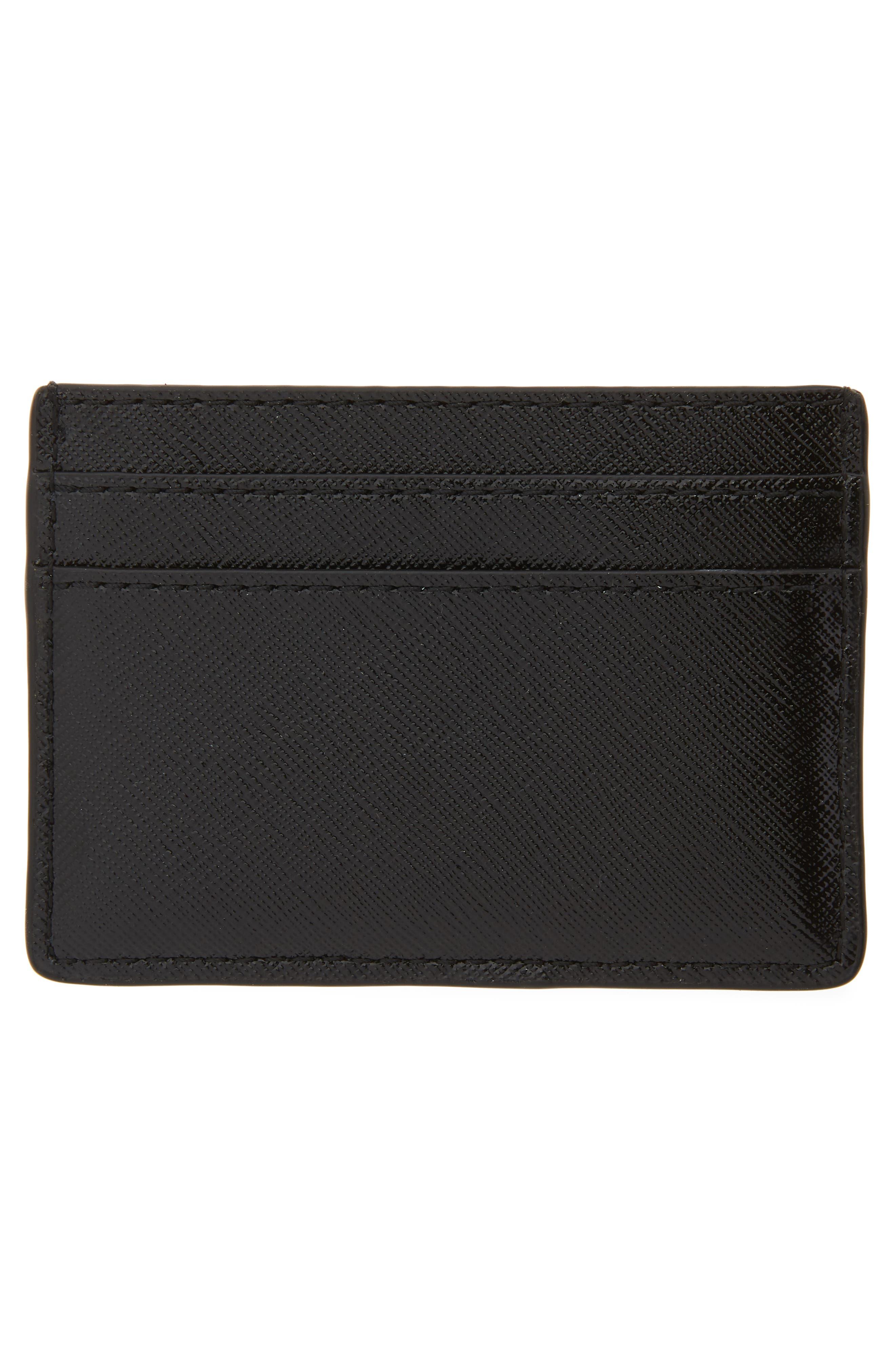 ,                             Snapshot Leather Card Case,                             Alternate thumbnail 2, color,                             BLACK