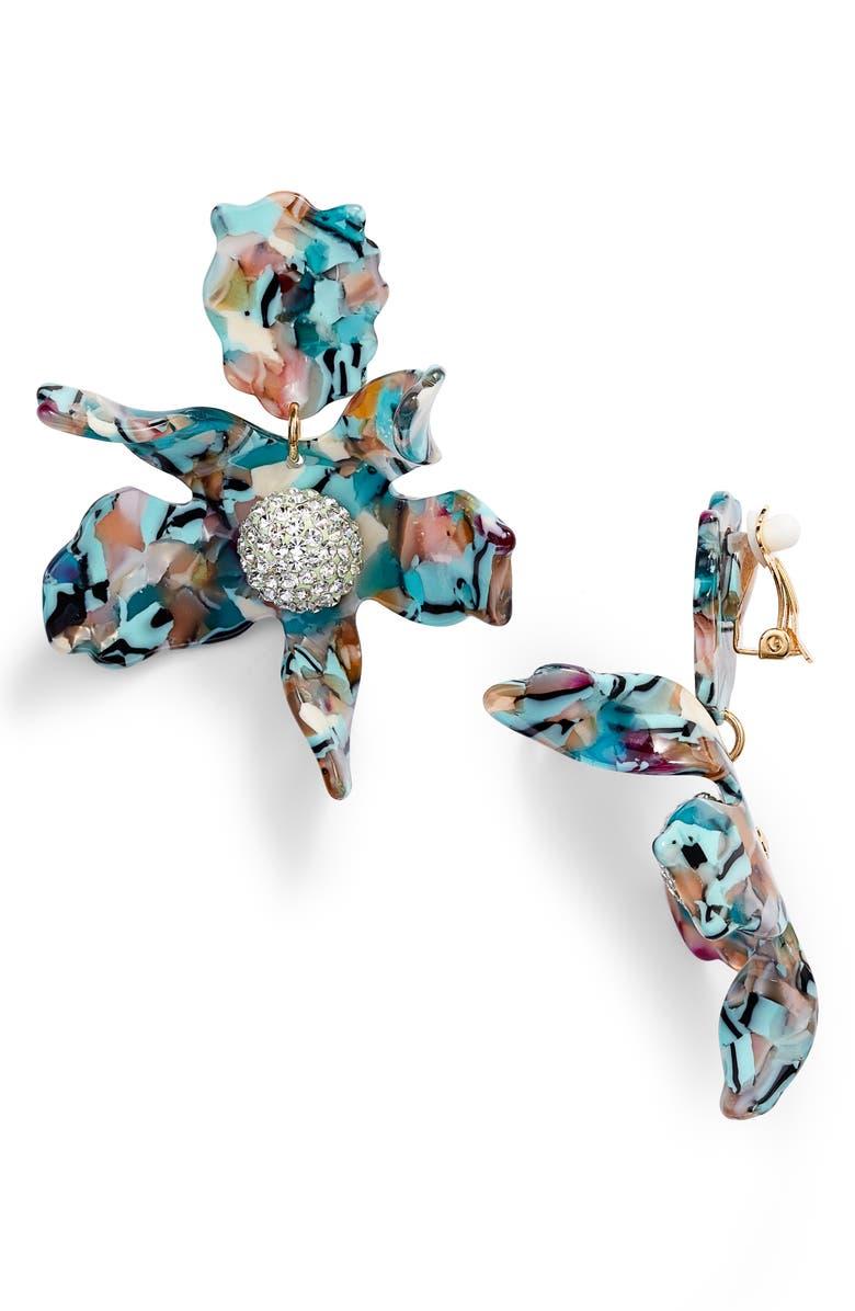 LELE SADOUGHI Crystal Lily Drop Earrings, Main, color, 440