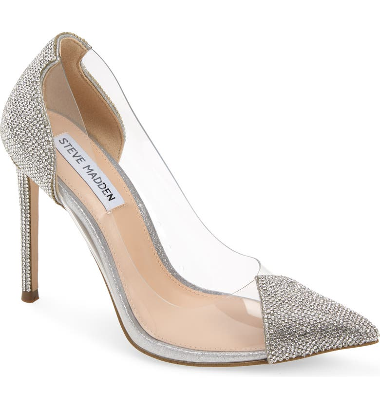 STEVE MADDEN Malibu Pump, Main, color, RHINESTONE