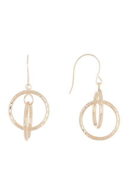 Image of Candela 10K Yellow Gold Geometric Drop Earrings